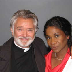 Karen Bryson playing Zoe Dayton on Apparitions pictured with Martin Shaw