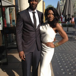 Karen Bryson and Emmanuel Igadhoro at the Baftas