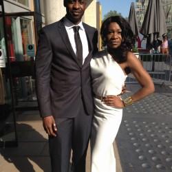 Karen Bryson and Emmanuel Igadhoro at the Baftas