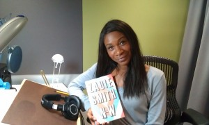 Karen Bryson in the Studio after the recording of NW Audio Book