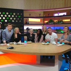 After a live show of cookery/chat show What's cooking for Channel 4