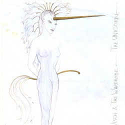 The Unicorn costume designed by Anthony Ward for Karen Bryson in original production of The Lion the Witch and the Wardrobe RSC
